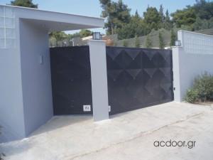Αυτόματη συρόμενη γκαραζόπορτα και πόρτα πεζών σστον Νέο Βουτζά (3)